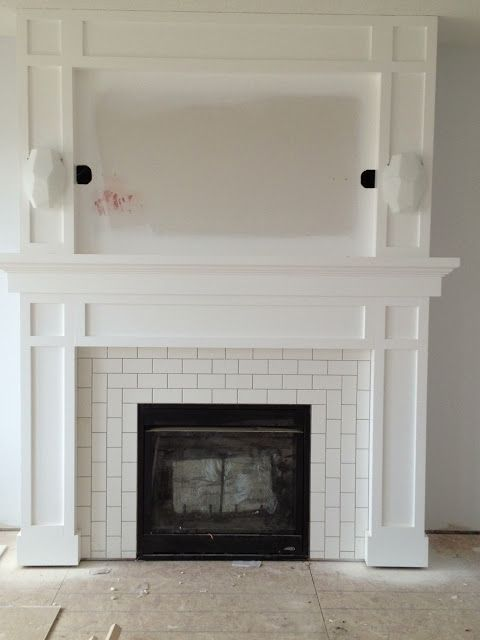 25+ best ideas about Tiled fireplace on Pinterest