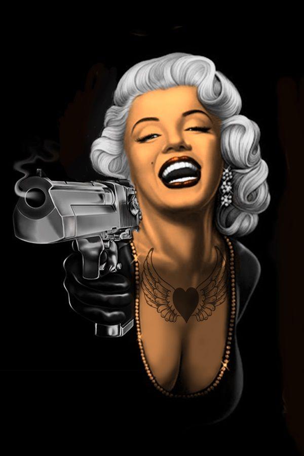 Gangsta Gangster Marilyn Monroe