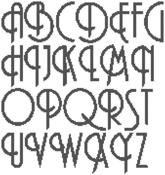 Needlepoint Plastic Canvas Alphabet Patterns