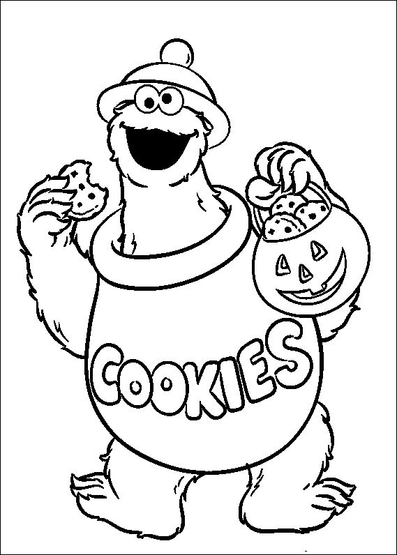 17 Best images about Sesame Street Coloring Pages on