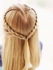 heart hair design cute dances prom