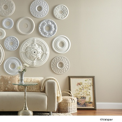 Valspar Oyster EB124 covers the wall  Frame  Pinterest
