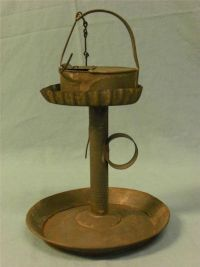 Betty Lamp and Stand - True 1800's Americana Tin Piece ...