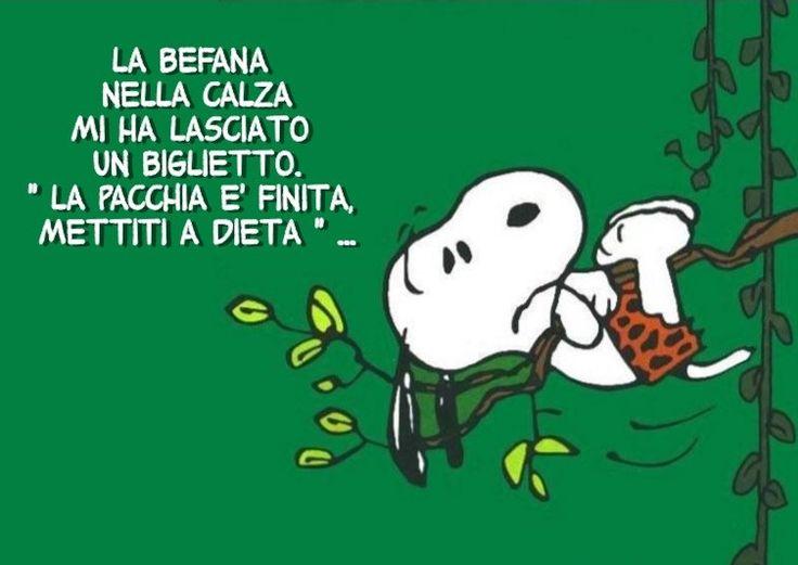 Dopo La Befana Si Comincia La Dieta Snoopy Time Pinterest Snoopy