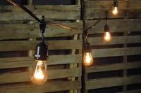 Commercial Edison Drop String Lights, 48 Foot Black Wire ...