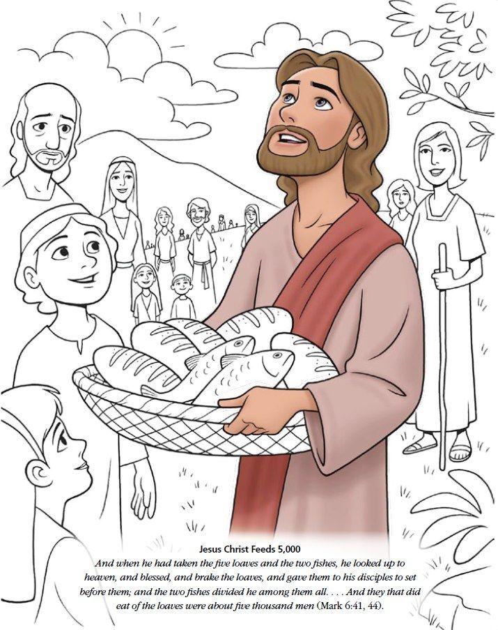 Bijbelverhaal 5 Broden En 2 Vissen Godsdienst