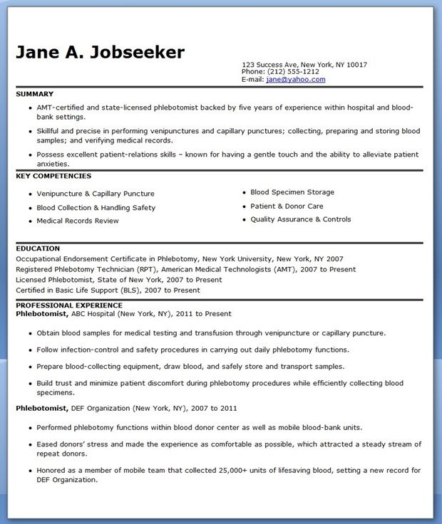 stunning phlebotomy resume objective contemporary office resume phlebotomist cover letter