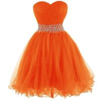 Short Orange Homecoming Dresses - Eligent Prom Dresses