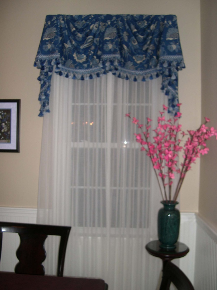 Board Mounted Federal Style Valance with sheers  Window Treatments  Pinterest  Federal