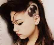 shaved hairstyles women 30
