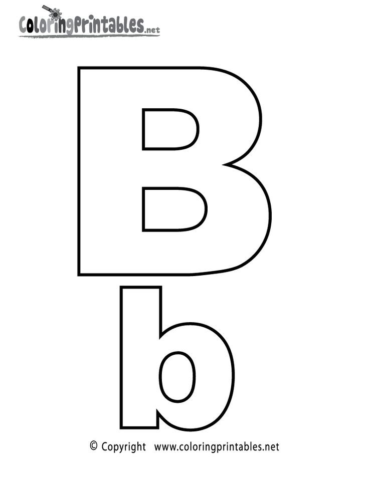 alphabet letter b coloring page  a free english coloring