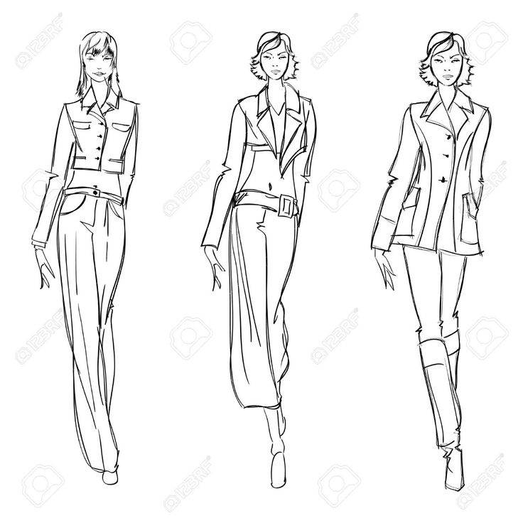 131 Best images about Sketches of Fashion on Pinterest