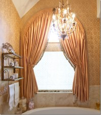arch window treatment   Window Dressing   Pinterest