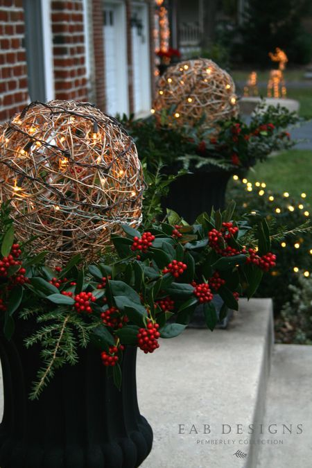 17 Best Ideas About Christmas Urns On Pinterest Outdoor