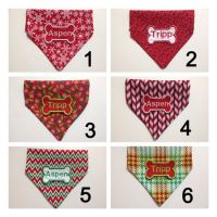 Christmas Winter Holiday Personalized Dog Bandana Dog