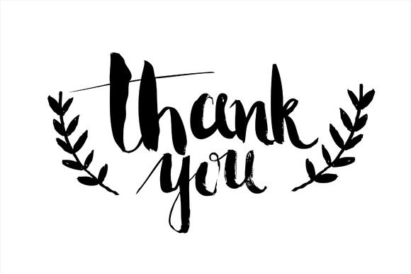 17 Best ideas about Thank You Typography on Pinterest