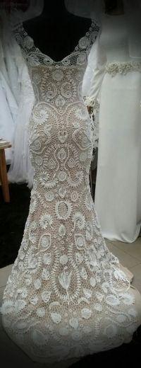 Unique irish crochet wedding dress