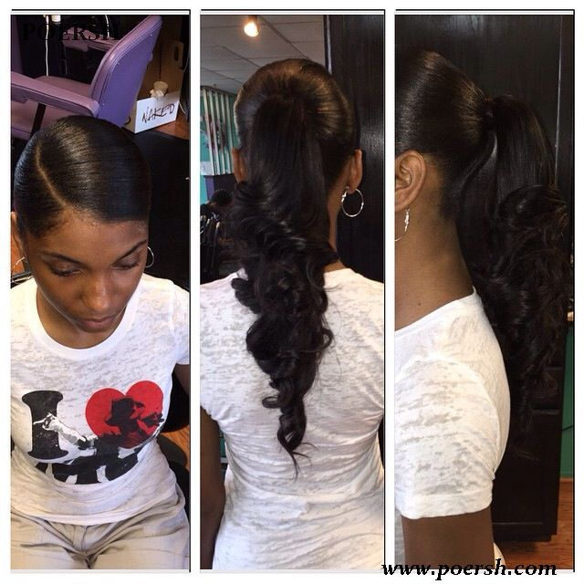 25 Best Ideas About Weave Ponytail Hairstyles On Pinterest