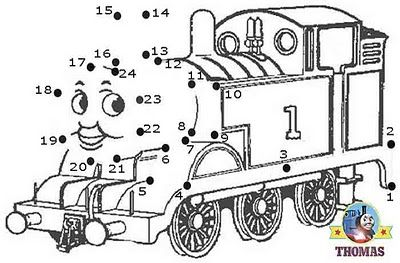 Play free online game Thomas the tank engine dot to dot
