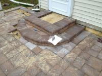 Patio Pavers : Last step is to build steps !   B.I.M ...