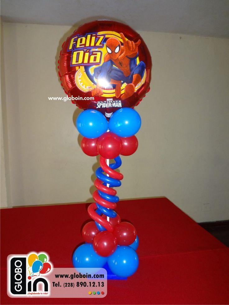 Globos de Spiderman centro de mesa  Centros de mesa con