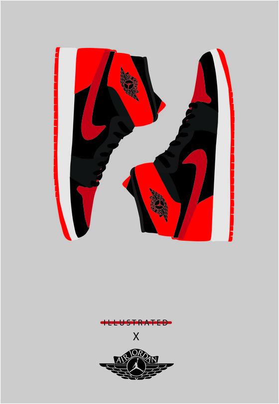 Jordans Wallpaper For Girls Image Of A3 Jordan Bred 1 Poster Fashion Mens
