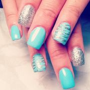 turquoise nail design nails