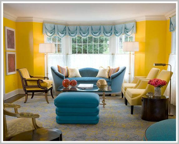 This Sunny Yellow Room Uses A Triadic Color Scheme