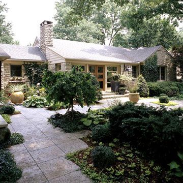Gardens Concrete Pavers And Front Yards On Pinterest
