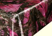 pink camouflage table cloth