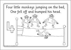 17 Best ideas about Five Little Monkeys on Pinterest