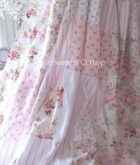 Chic ruffles drape set baby pink ruffled curtain drapes ...