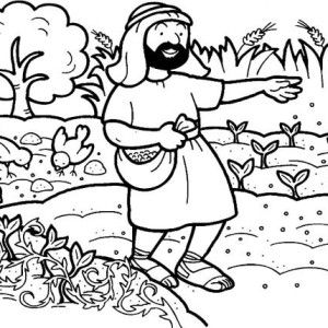 Parable of the Sower Coloring Page for Kids: Parable of