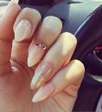 Best 25+ Almond gel nails ideas on Pinterest