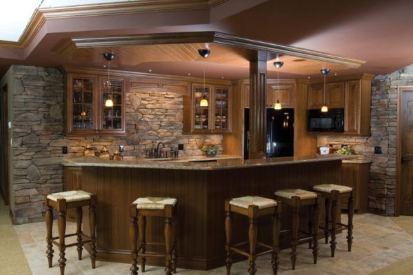rustic kitchen with stone backsplash Rustic Kitchen Stone Backsplash | Backsplash | Pinterest