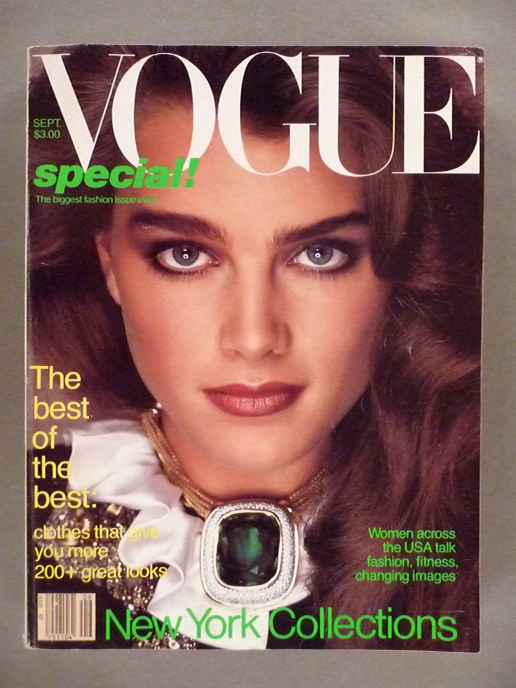 Vogue Magazine  September 1981  Brooke Shields cover  Brooke dorsay Magazines and Vogue