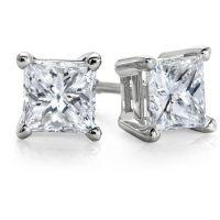 25+ best ideas about Princess cut diamond earrings on ...