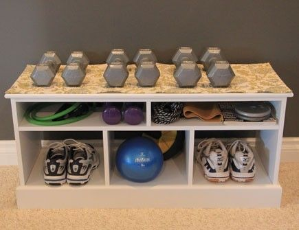 Gym equipment storage storageideas  For the Home