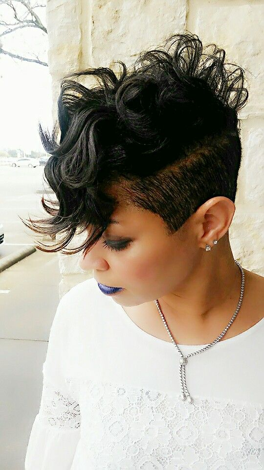 Best 25 Black Hair Mohawk Ideas On Pinterest