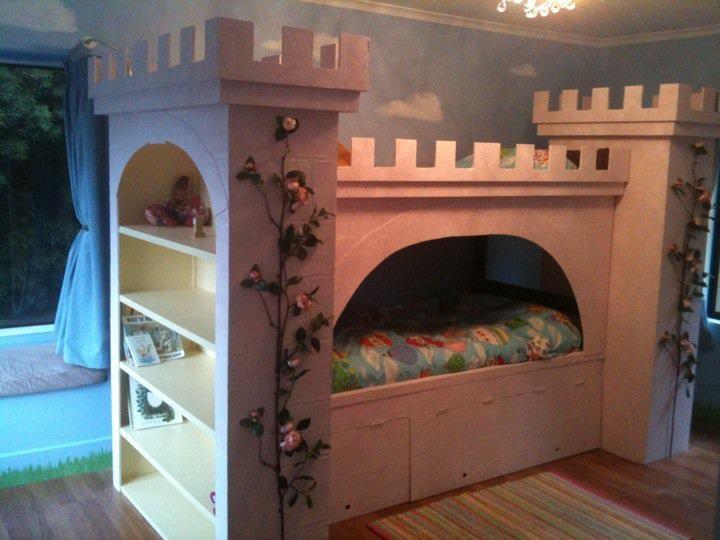 Princess Castle Bunk Bed Home Nursery Pinterest