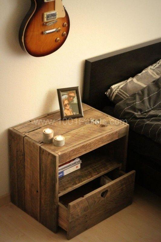 17 Best ideas about Pallet Bedroom Furniture on Pinterest