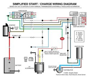 Automotive Alternator Wiring Diagram | Boat electronics