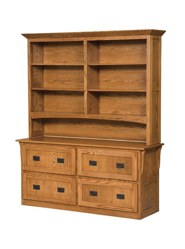 Four Drawer Arts and Crafts Lateral File Cabinet with