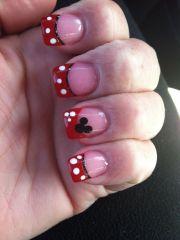 cute disneyland nails