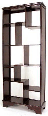 Moe39s Home Collection Bliss Natural Open Bookshelf with