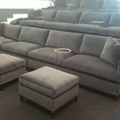Theater Chairs With Cup Holders Fold Up For Sporting Events Love These Hickory Chair Extra Long Sofas A Screening Room. So Much Better Than The ...
