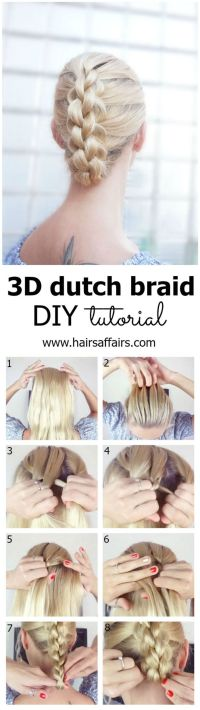 17 Best ideas about Dutch Braid Tutorials on Pinterest