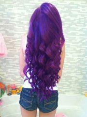 cute purple hair smile