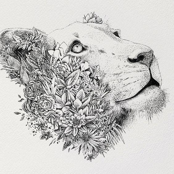 25+ melhores ideias de Tatuagem de leoa no Pinterest