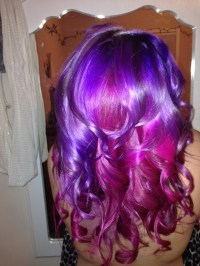 Mermaid hair using ion color brilliance magenta and manic ...
